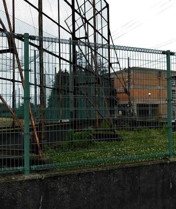 長岡市 グランドバックネット解体撤去工事