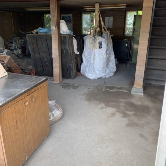 新潟市西蒲区 木造倉庫、縁切り撤去工事