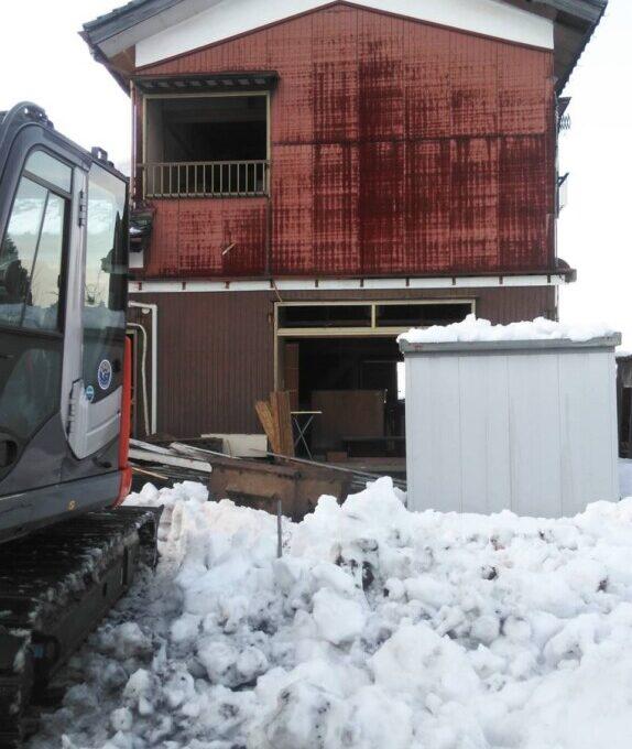秋葉区木造縁切り解体工事