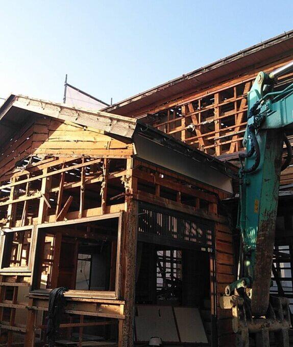 西蒲区木造解体工事
