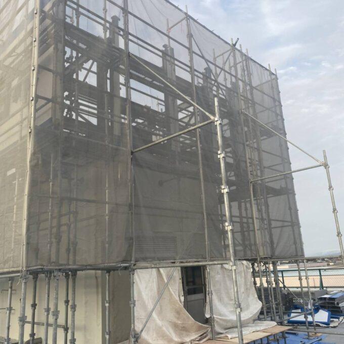燕市屋上鉄骨造看板撤去工事