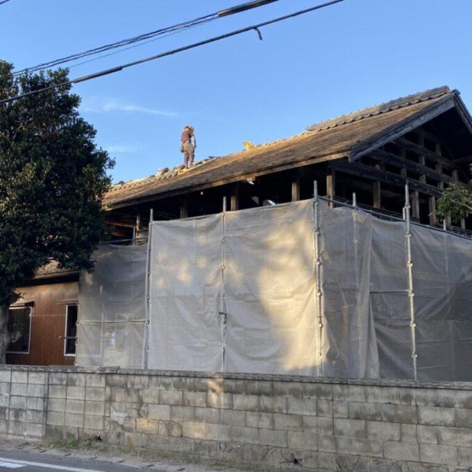 西蒲区縁切り木造住宅解体工事